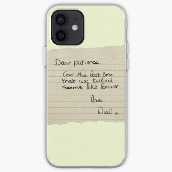 Estimado diseño de nota de paciencia Funda blanda para iPhone