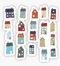 Little Houses Sticker