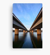 TWIN Bridges Canvas Print