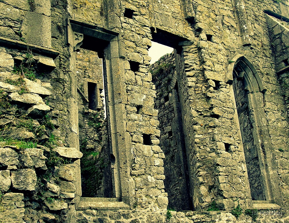 Windows of Hore Abbey by Jill Holliday