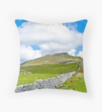 The Three Peaks - Pen-y-ghent Throw Pillow