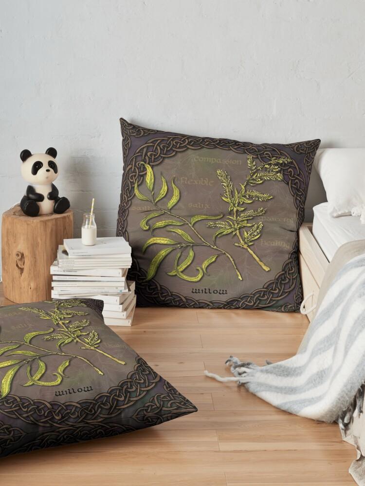 Alternate view of Celtic Willow Floor Pillow