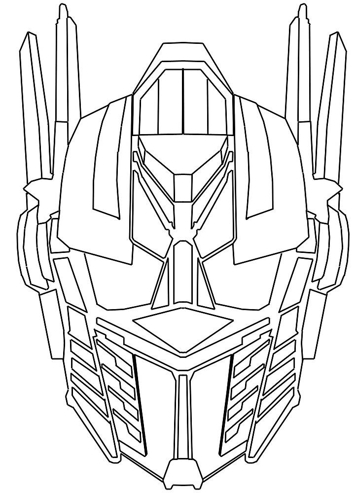 U0026quot Optimus Prime Face Sketch U0026quot  By D124