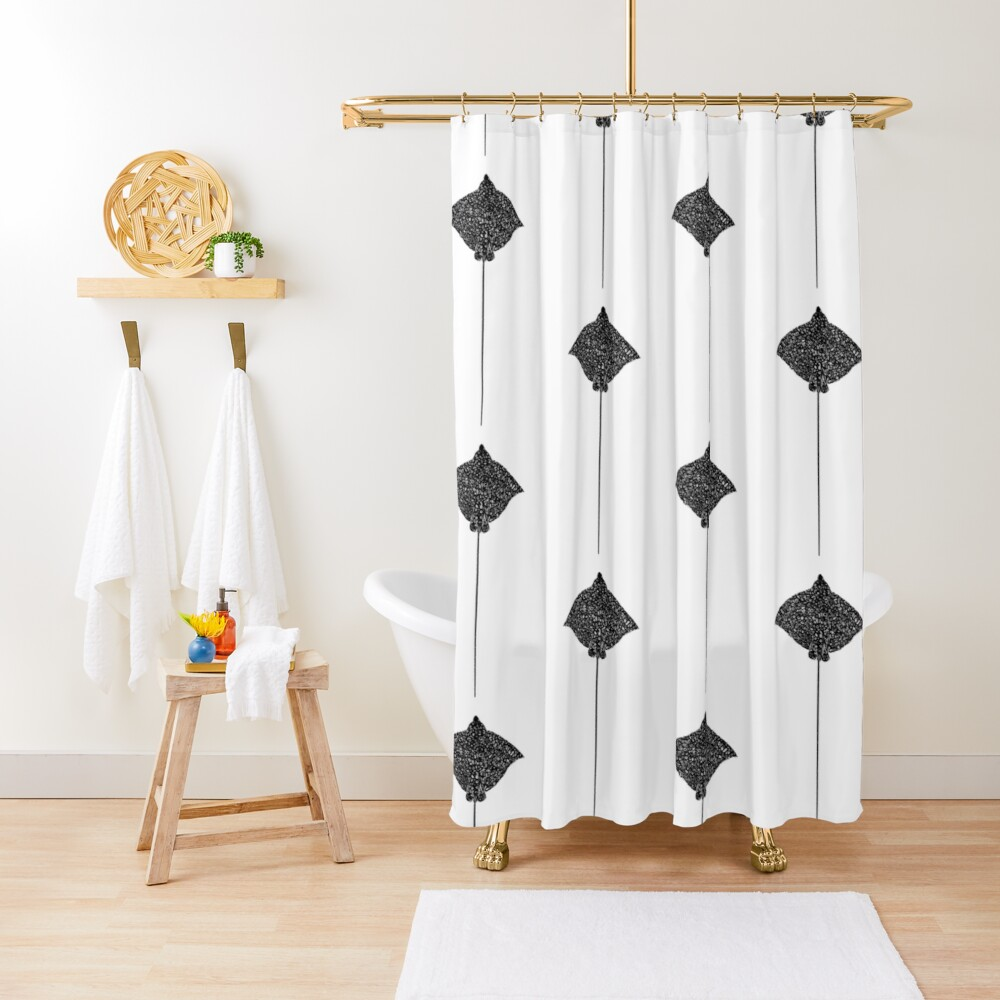Dots Stingray Shower Curtain