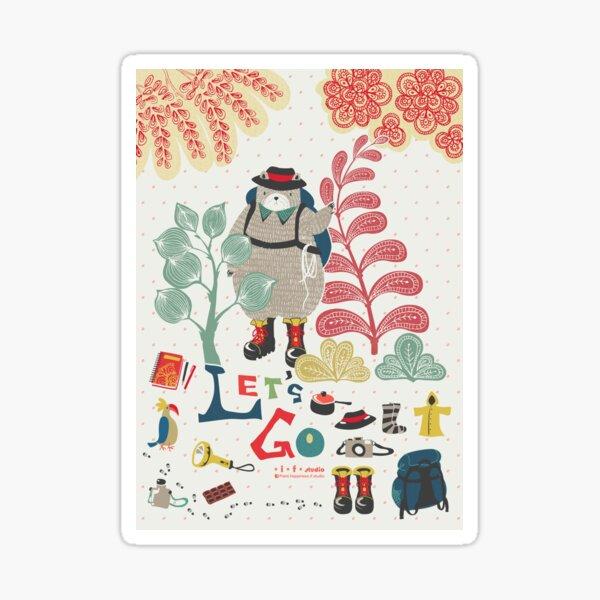 Bear Travel - Let's Go Sticker