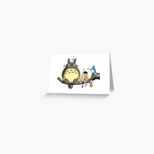 My Neighbour Totoro Sitting on branch Greeting Card