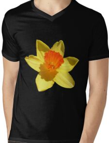 Daffodil Emblem Isolated Mens V-Neck T-Shirt