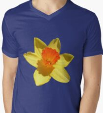 Daffodil Emblem Isolated Mens V-Neck T-Shirt