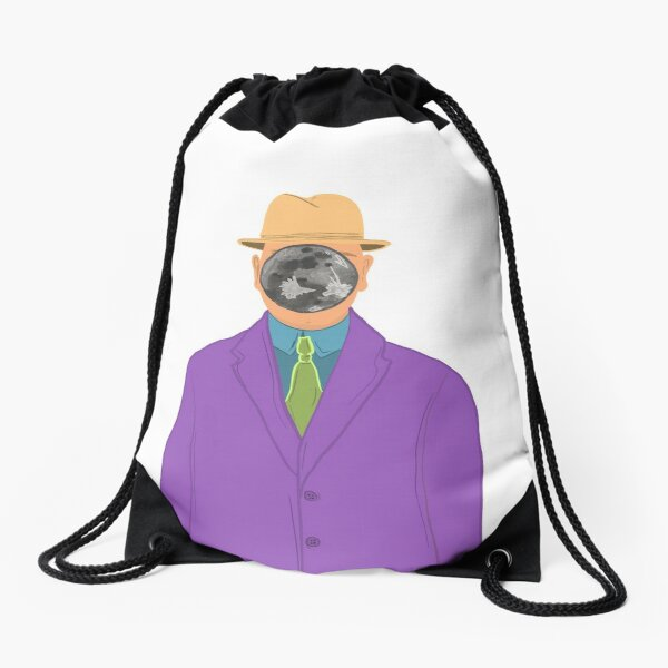 Moon Face Drawstring Bag