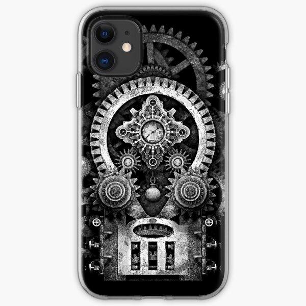 Infernal Steampunk Vintage Machine #2B Monochrome Version iPhone Soft Case