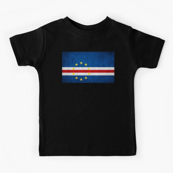 CAPE VERDE FADED FLAG LADIES T-SHIRT TEE TOP CABO VERDE CAPE VERDEAN GIFT SHIRT