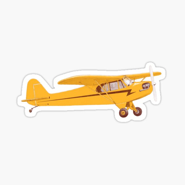 Little Yellow Plane Sticker