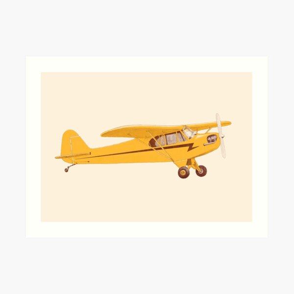 Petit avion jaune Impression artistique