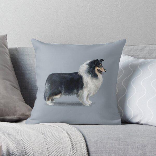 Tri Coloured Rough Collie Throw Pillow