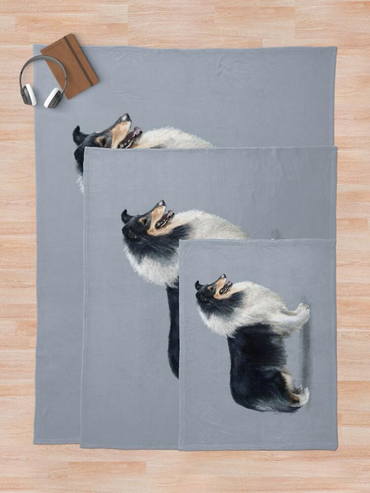 Alternate view of Tri Coloured Rough Collie Throw Blanket