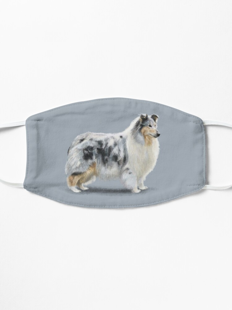 Alternate view of The Merle Rough Collie Mask