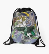 Demonic Twister Drawstring Bag
