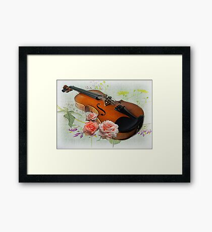 Let The Music Play On .  Framed Print