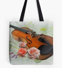 Let The Music Play On .  Tote Bag