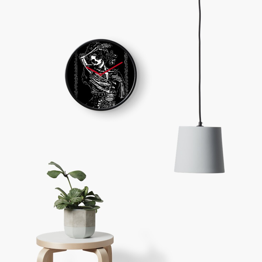 Day of the Dead - Queen of Clubs Clock