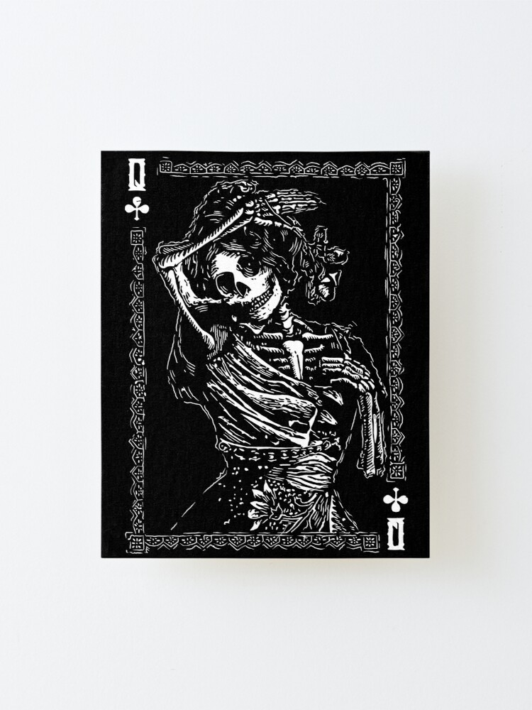 Alternate view of Day of the Dead - Queen of Clubs Mounted Print
