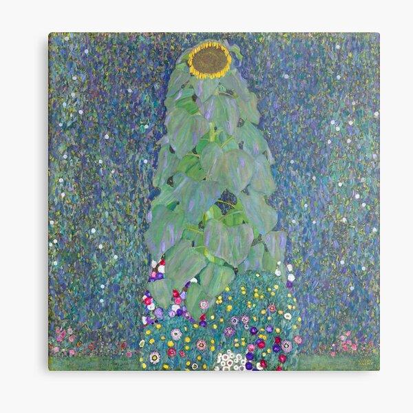 The Sunflower - Gustav Klimt Metal Print