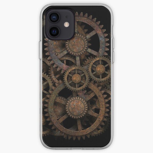 Infernal Vintage Steampunk Gears on your Gear iPhone Soft Case