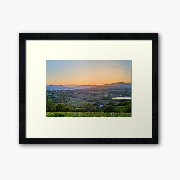Sunset Over The Valleys Framed Art Print