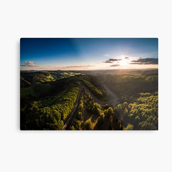 Karussell at Sunset Metal Print
