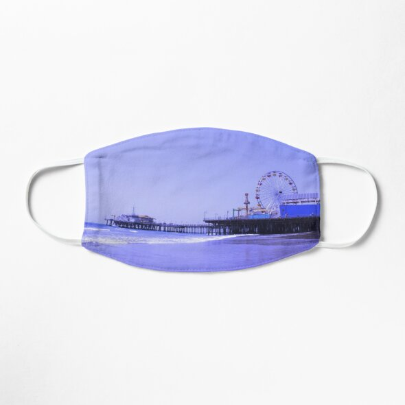 Purple Haze Santa Monica Pier Mask Designed by stine1
