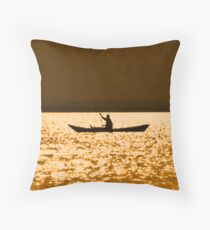 rowing for gold Throw Pillow