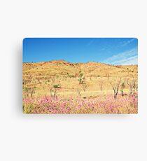 Land Flower Sky Canvas Print
