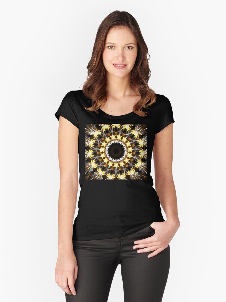Yellow Monarch Women's Fitted Scoop T-Shirt Front