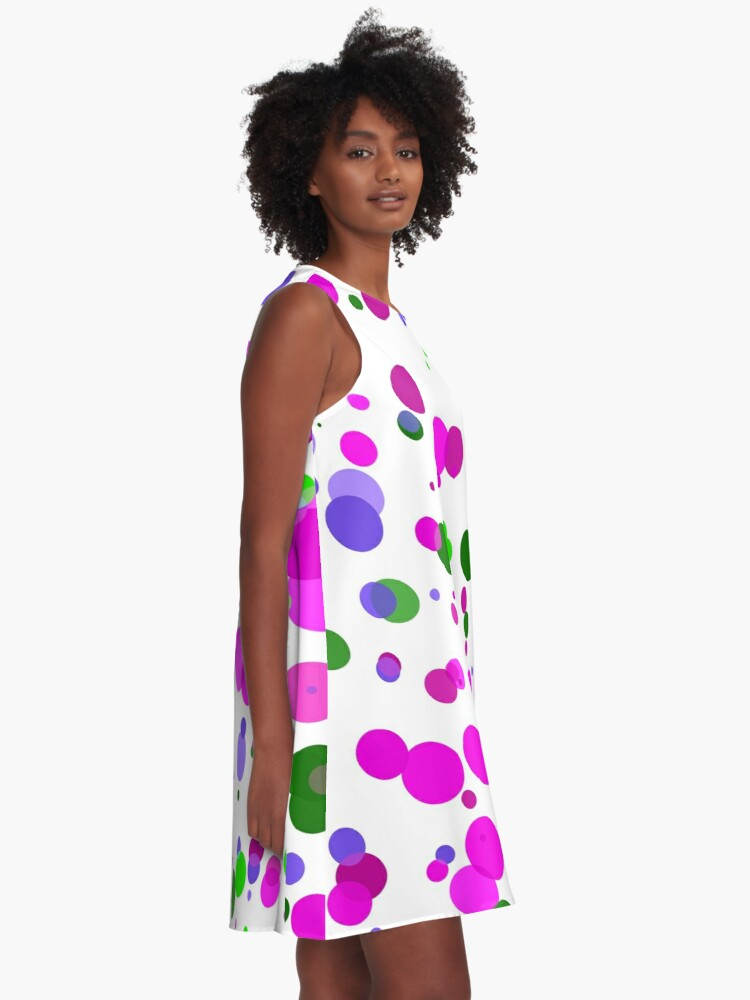 Alternate view of Pink Polka Dot Confetti A-Line Dress
