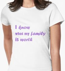 i know what my family is worth Women's Fitted T-Shirt
