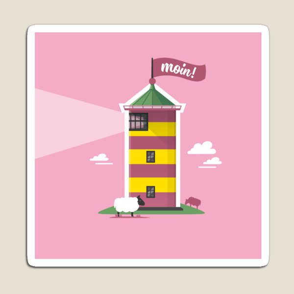 Hello! Lighthouse pink Magnet
