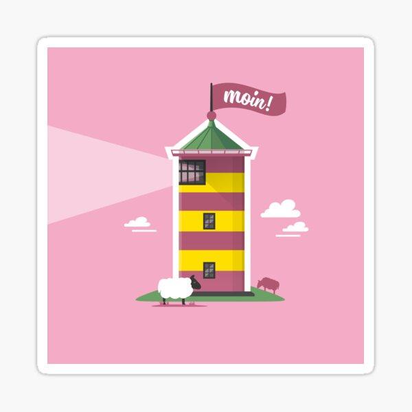Hello! Lighthouse pink Sticker