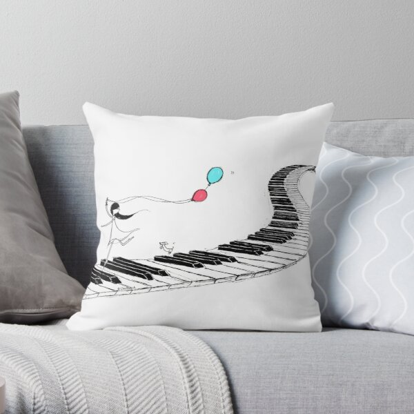 Music Delight Throw Pillow