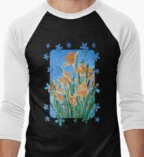 Golden Daffodils Men's Baseball ¾ T-Shirt