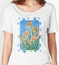 Golden Daffodils Women's Relaxed Fit T-Shirt