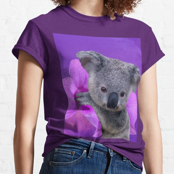 Koala and Orchids Classic T-Shirt