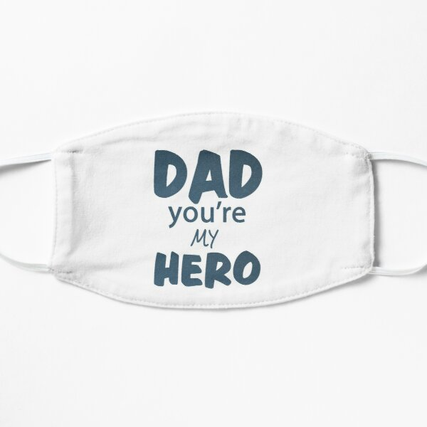Day you`re my hero Papa Vater Dad Papi Vatertag Legende Superdad Geburtstag Geschenk Idee Flache Maske