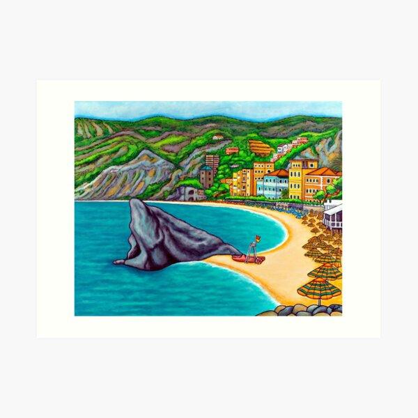 Colours of Monterosso Art Print
