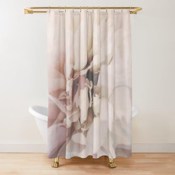 Blush Pink Flower Close-Up Shower Curtain