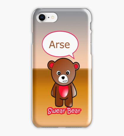 GeekGirl - Brown SwearBear iPhone Case/Skin