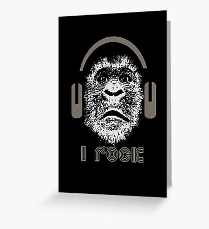 "Gorilla ""I Rock"" Greeting Card"