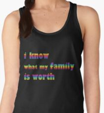 i know what my family is worth - rainbow Women's Tank Top