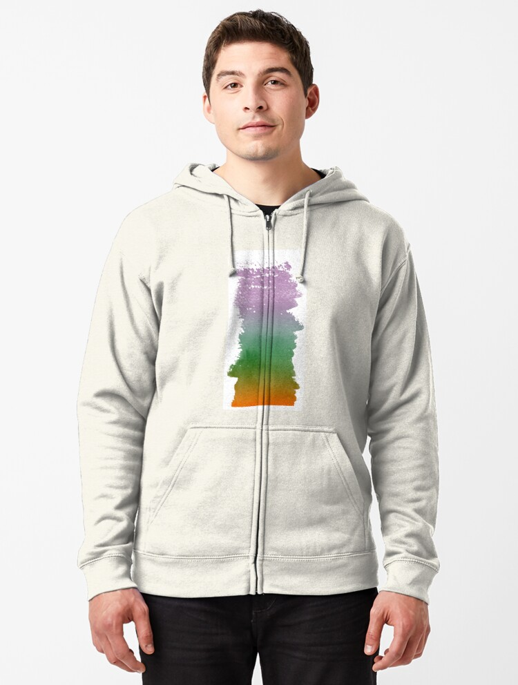 Make Art Bold Strokes Hooded Sweatshirt