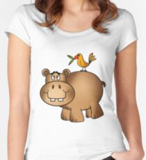 Hippo and Birdie Women's Fitted Scoop T-Shirt