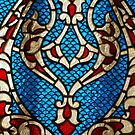Upper Room Stained Glass Window in Jerusalem... by Carol Clifford